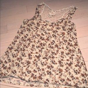 Flower Crochet Tank Top